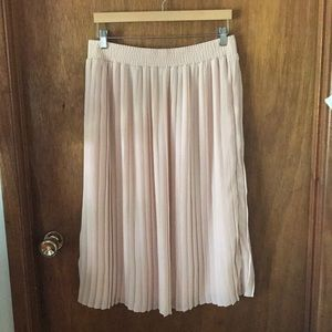 Who What Wear Target blush pleated midi skirt m